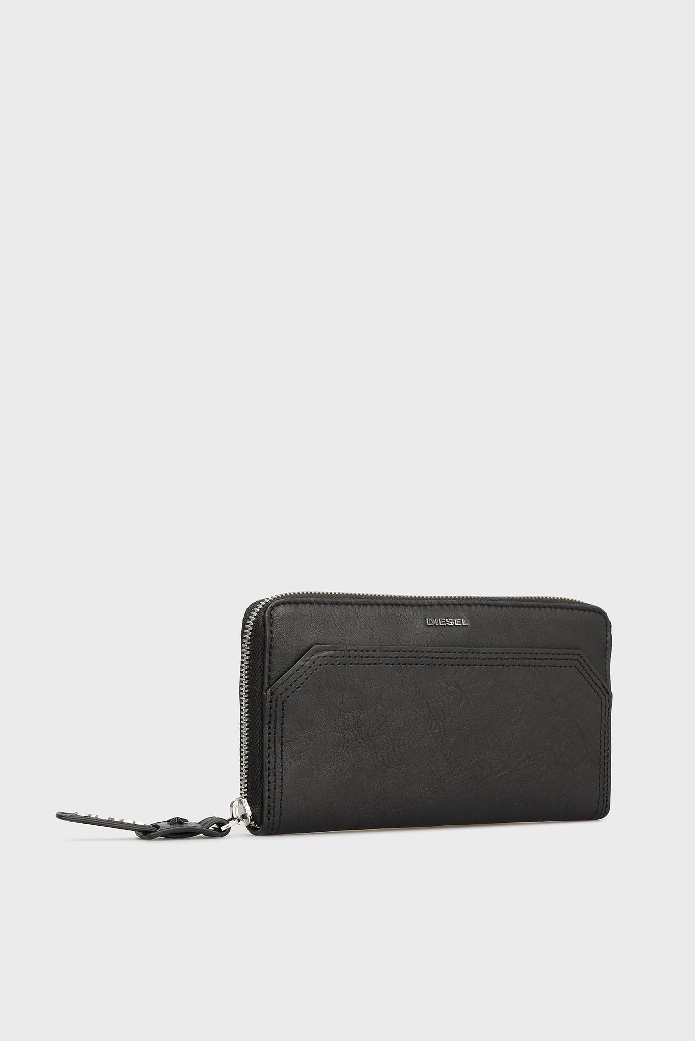 Купить Женский черный кожаный кошелек Diesel Diesel X05630 P1743 – Киев, Украина. Цены в интернет магазине MD Fashion