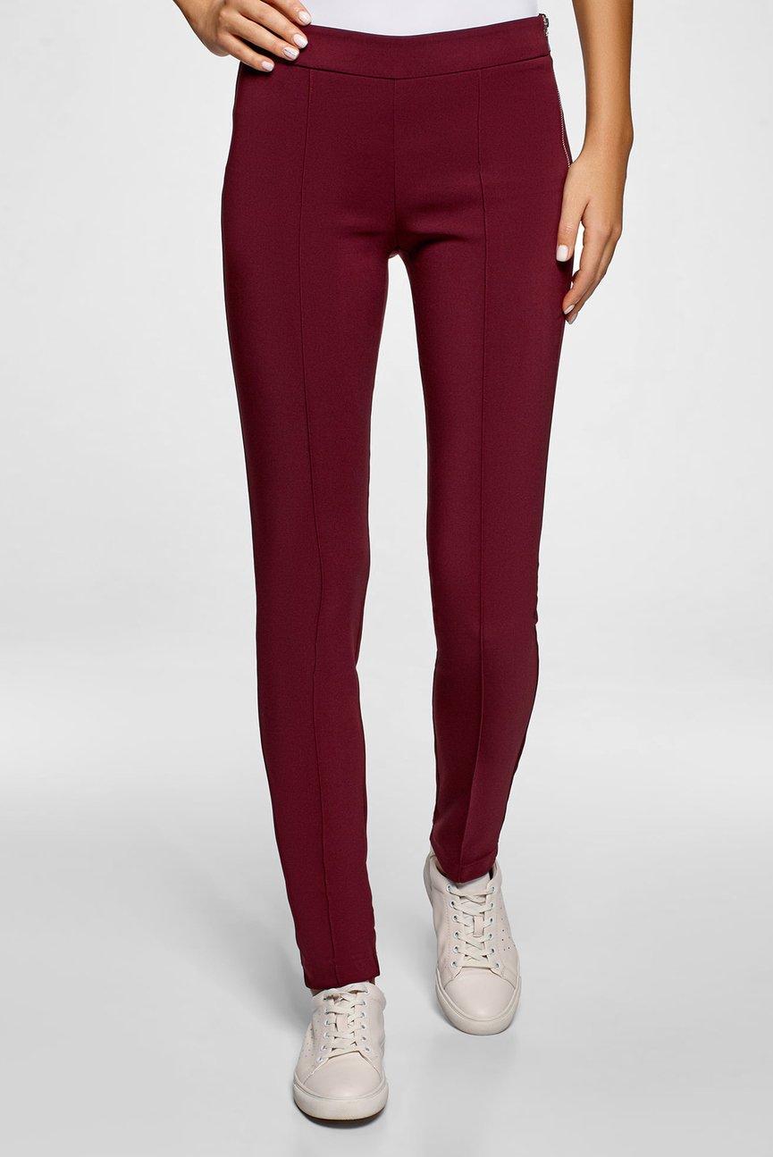 Женские бордовые брюки