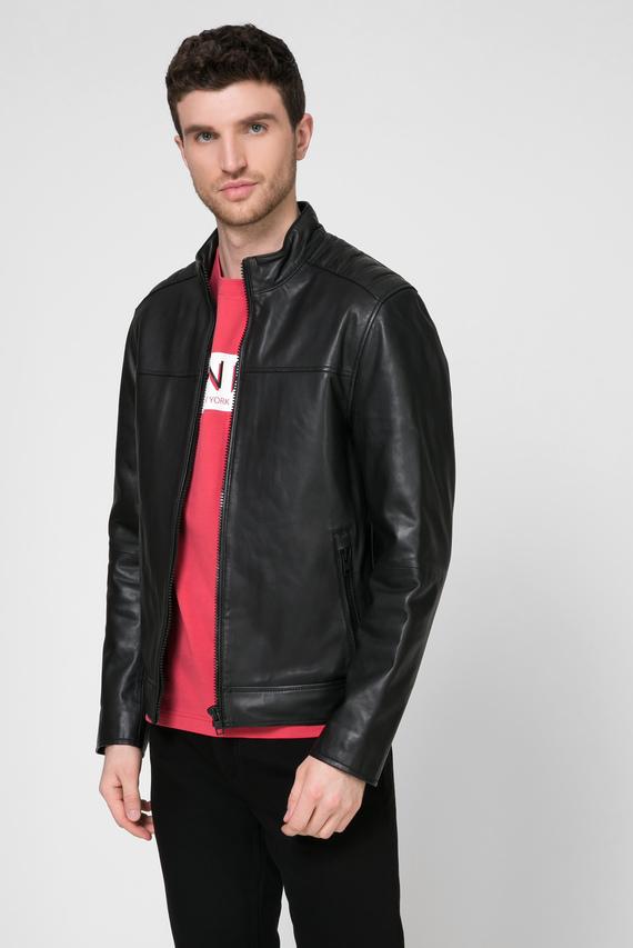 Мужская черная кожаная куртка NAPPA BIKER