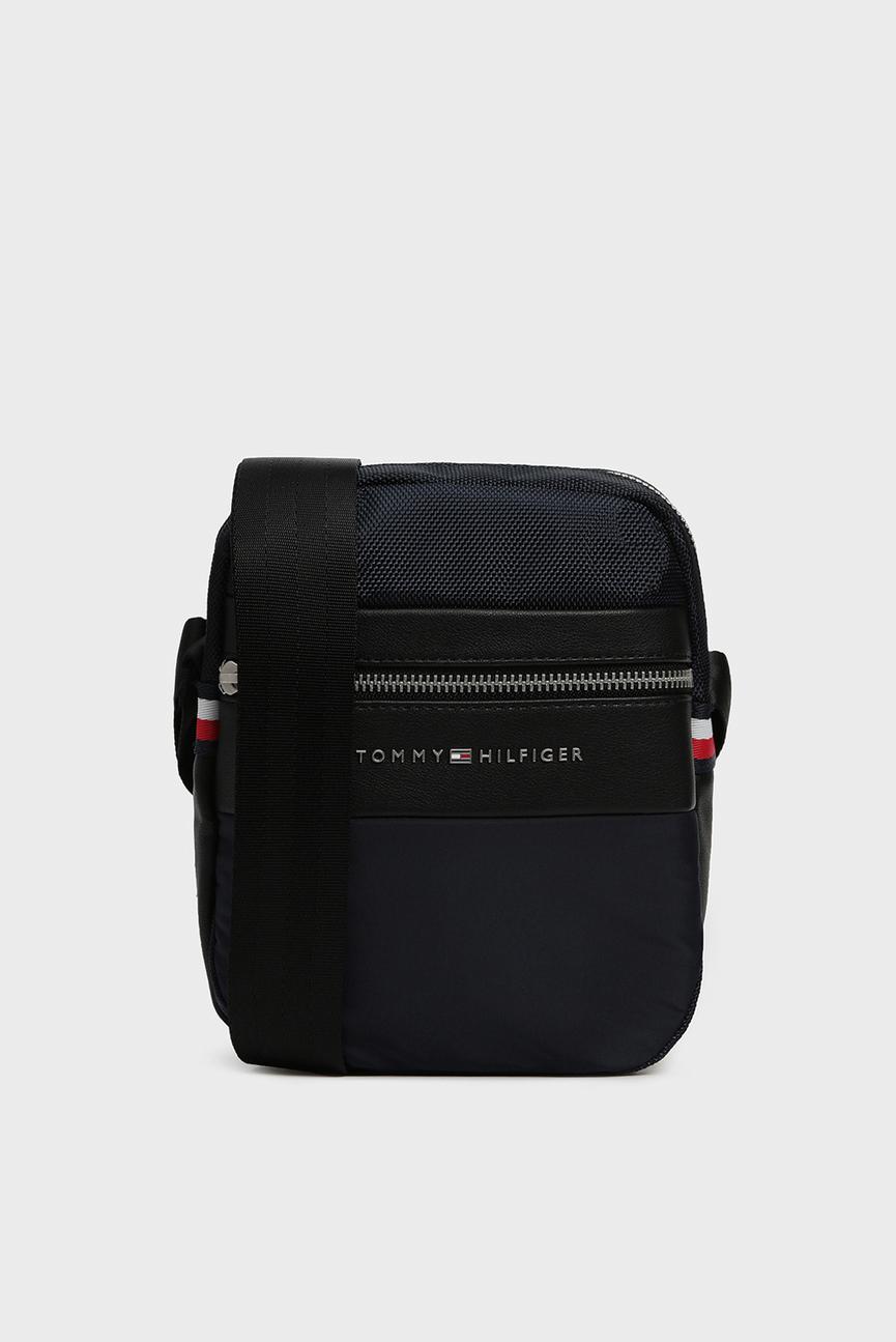 Мужская темно-синяя сумка через плечо NYLON MIX  MINI  REPORTER