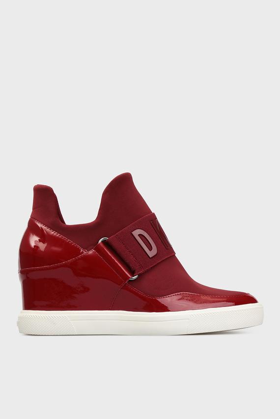 Женские бордовые ботинки
