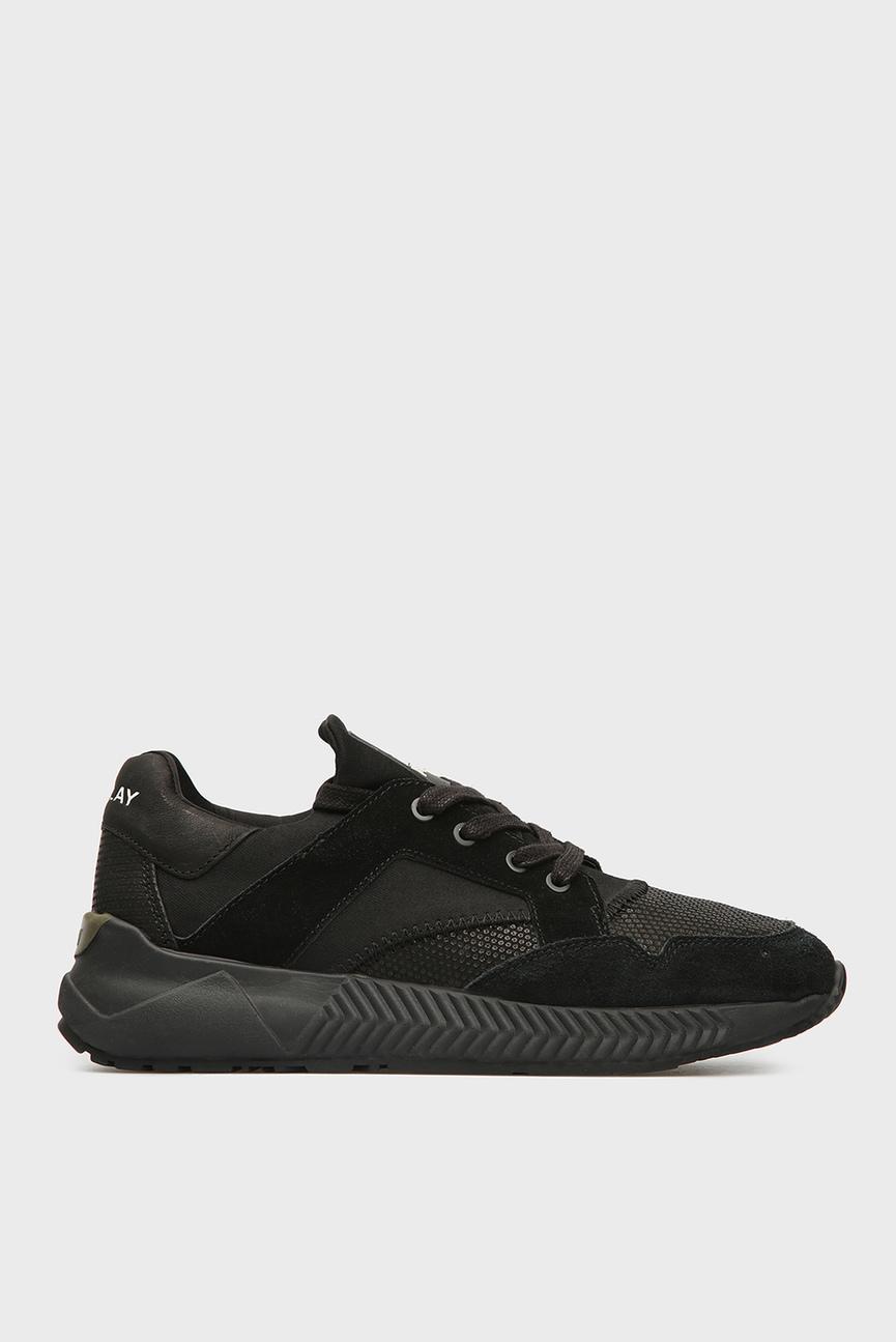 Мужские черные замшевые кроссовки FUAM