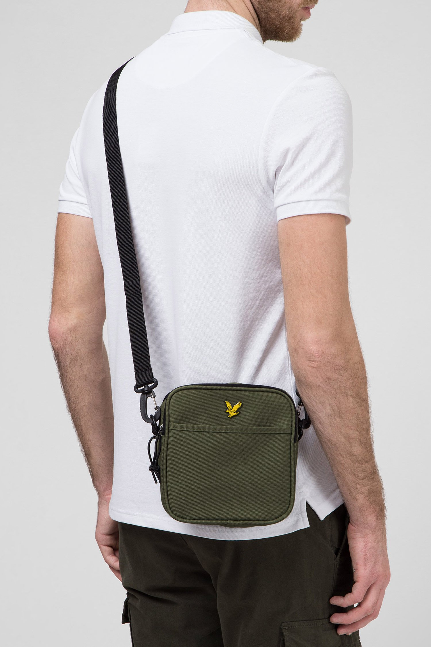 Мужская зеленая сумка через плечо Lyle & Scott