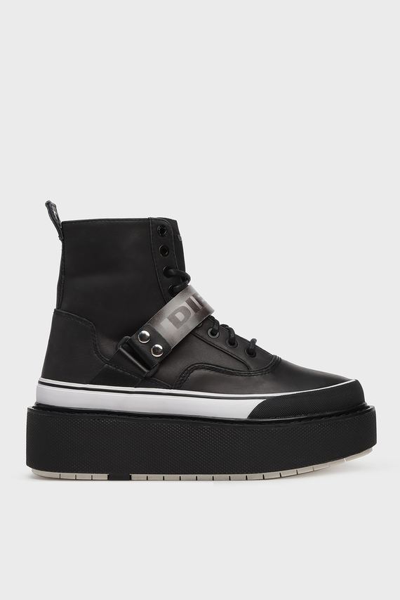 Женские черные кожаные ботинки SCIROCCO / H-SCIROCCO STRAP