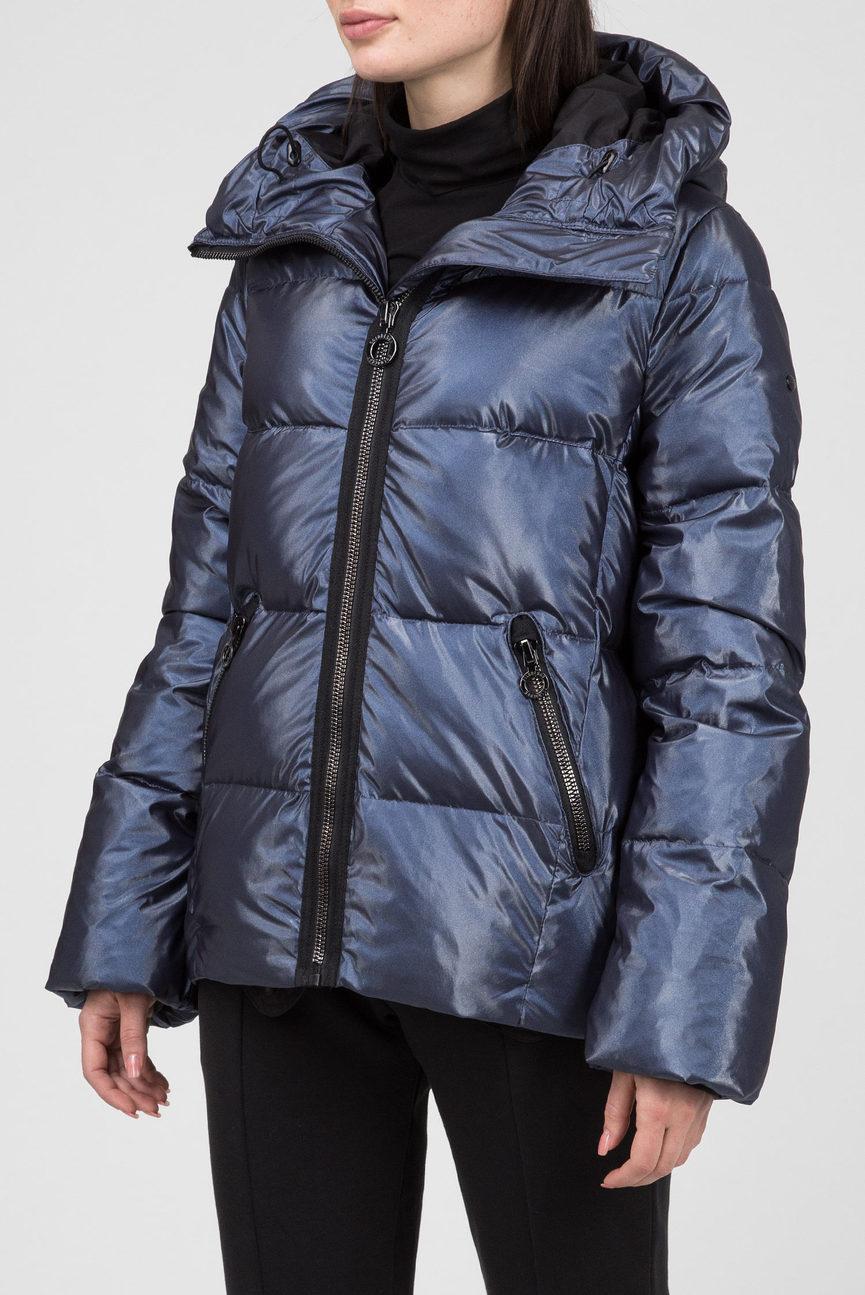 Женская синяя пуховая лыжная куртка