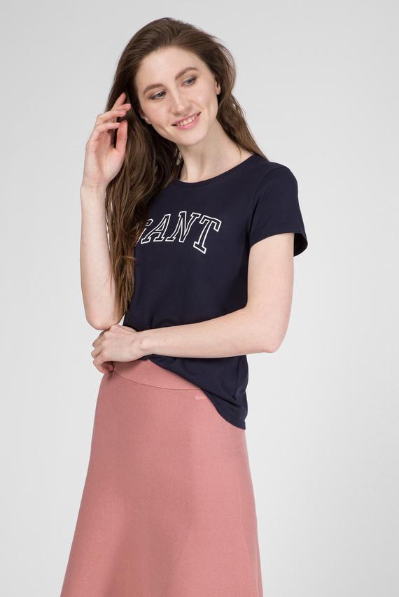 Женская темно-синяя футболка ARCH LOGO CAPSLEEVE