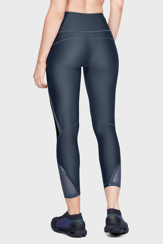 Женские темно-серые тайтсы UA HG Armour Shine Ankle Crop