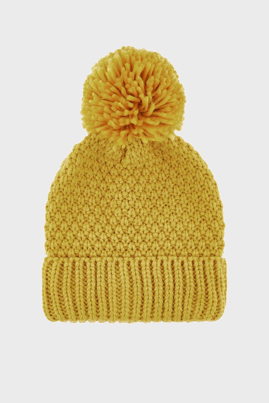 Женская оранжевая шапка OPP POM BEANIE