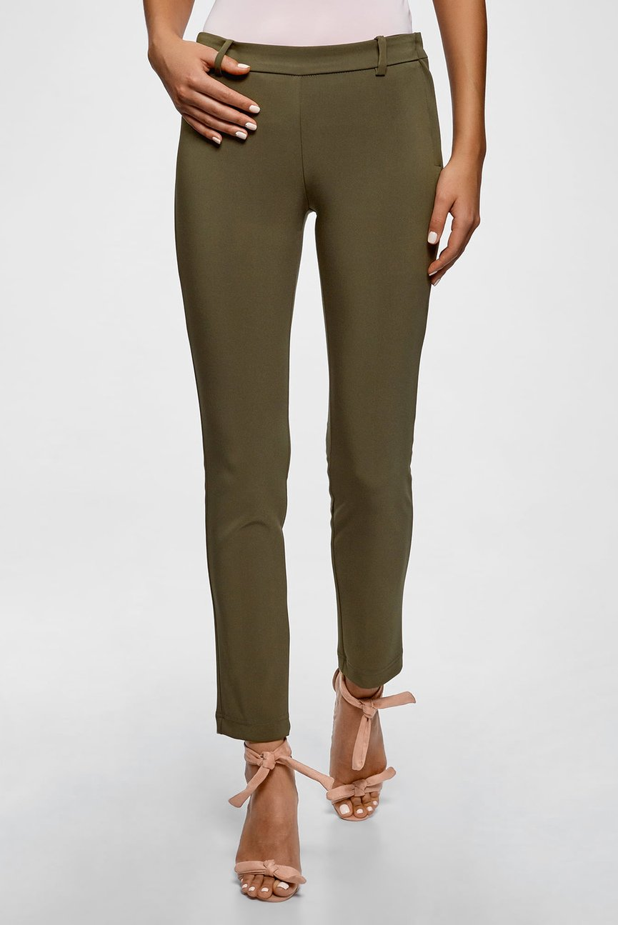 Женские оливковые брюки