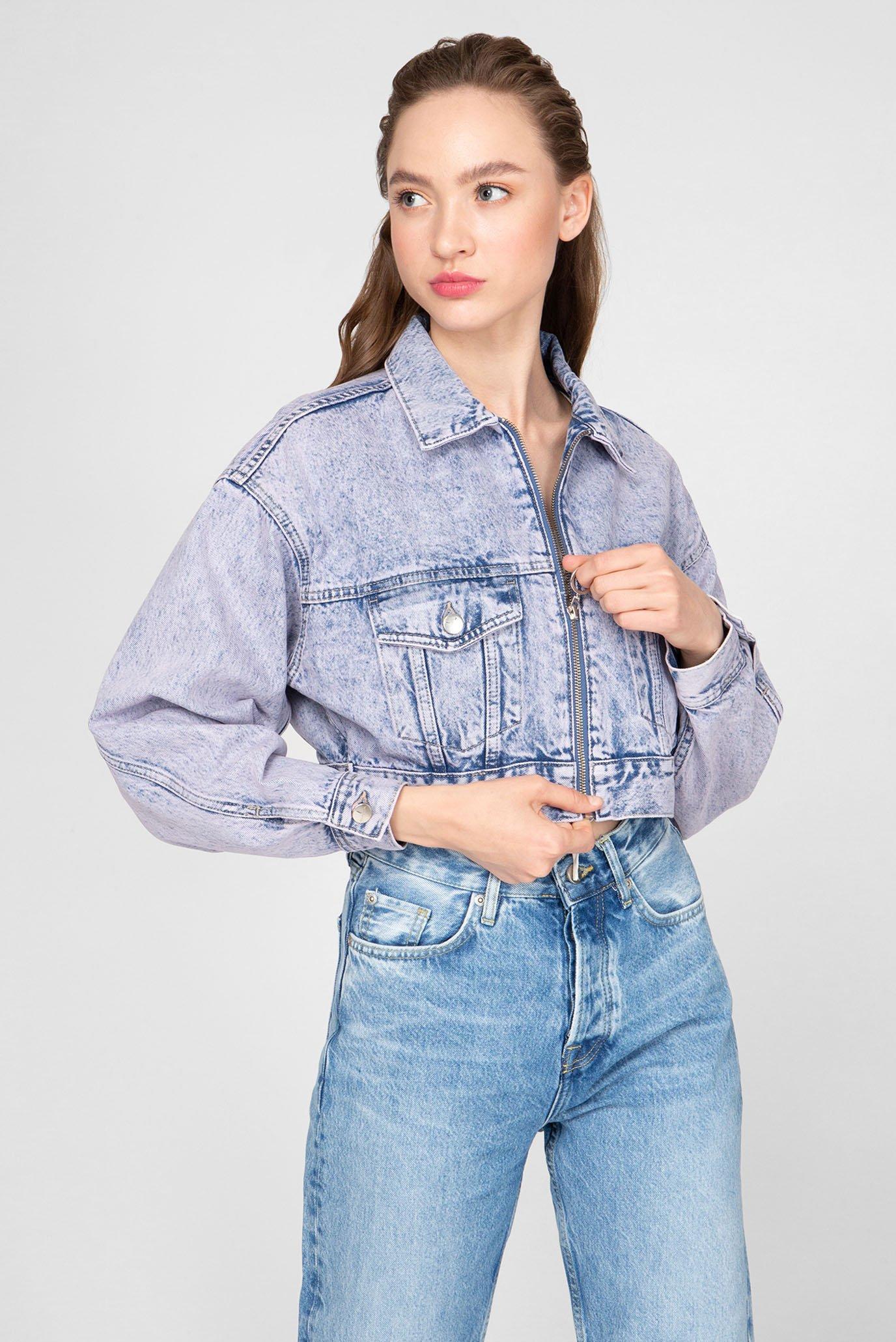 Женская фиолетовая джинсовая куртка ROGUE ACID Dua Lipa x Pepe Jeans 1