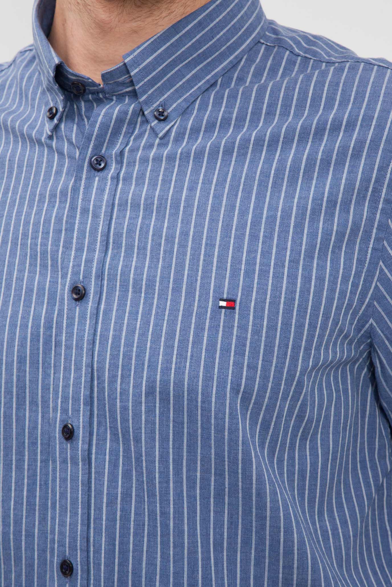 c14765f98c6 Купить Мужская синяя рубашка в полоску Tommy Hilfiger Tommy Hilfiger  MW0MW02936 – Киев