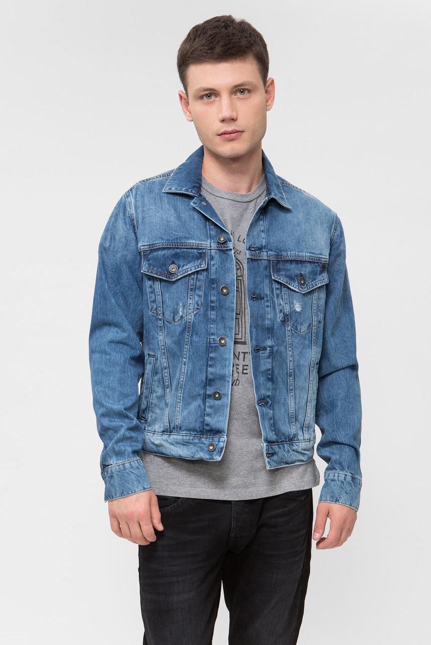 Мужская синяя джинсовая куртка PINNER