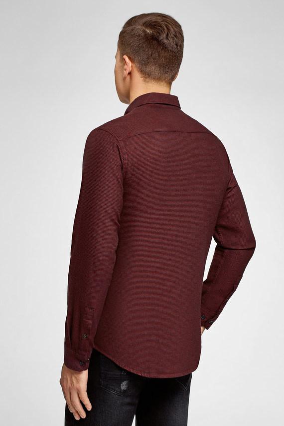 Мужская бордовая рубашка в клетку