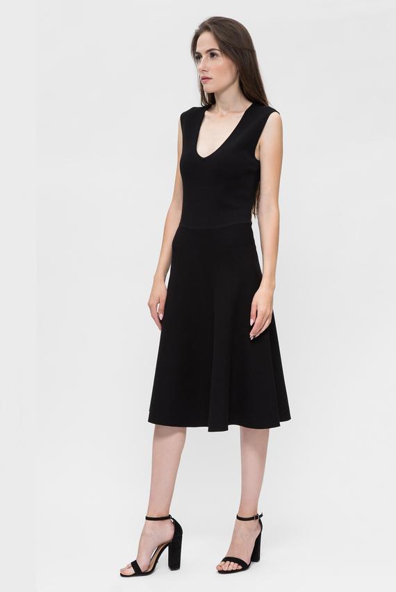Женское черное платье