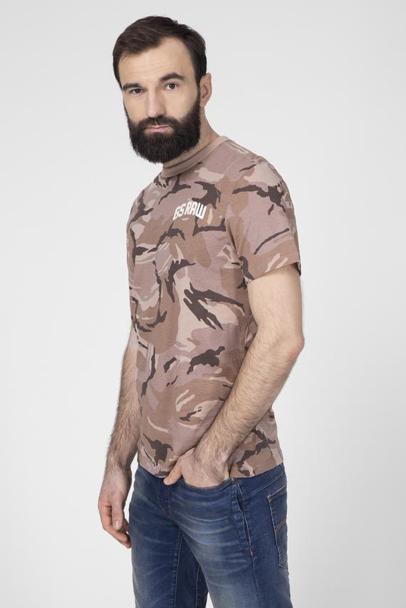 Мужская розовая футболка с узором Gsraw