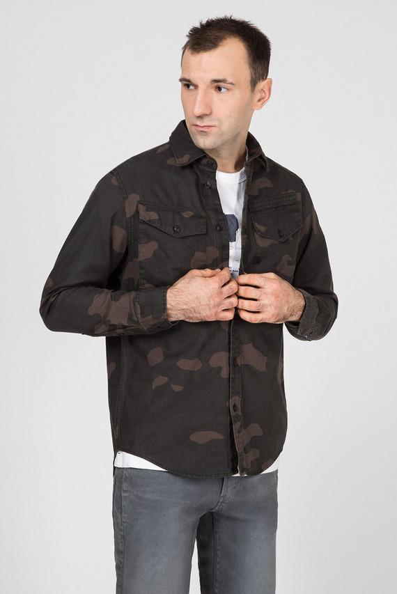 Мужская камуфляжная рубашка Lecite straight