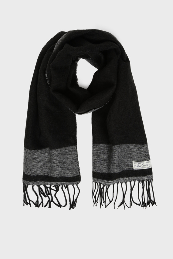Мужской черный шарф SCURA