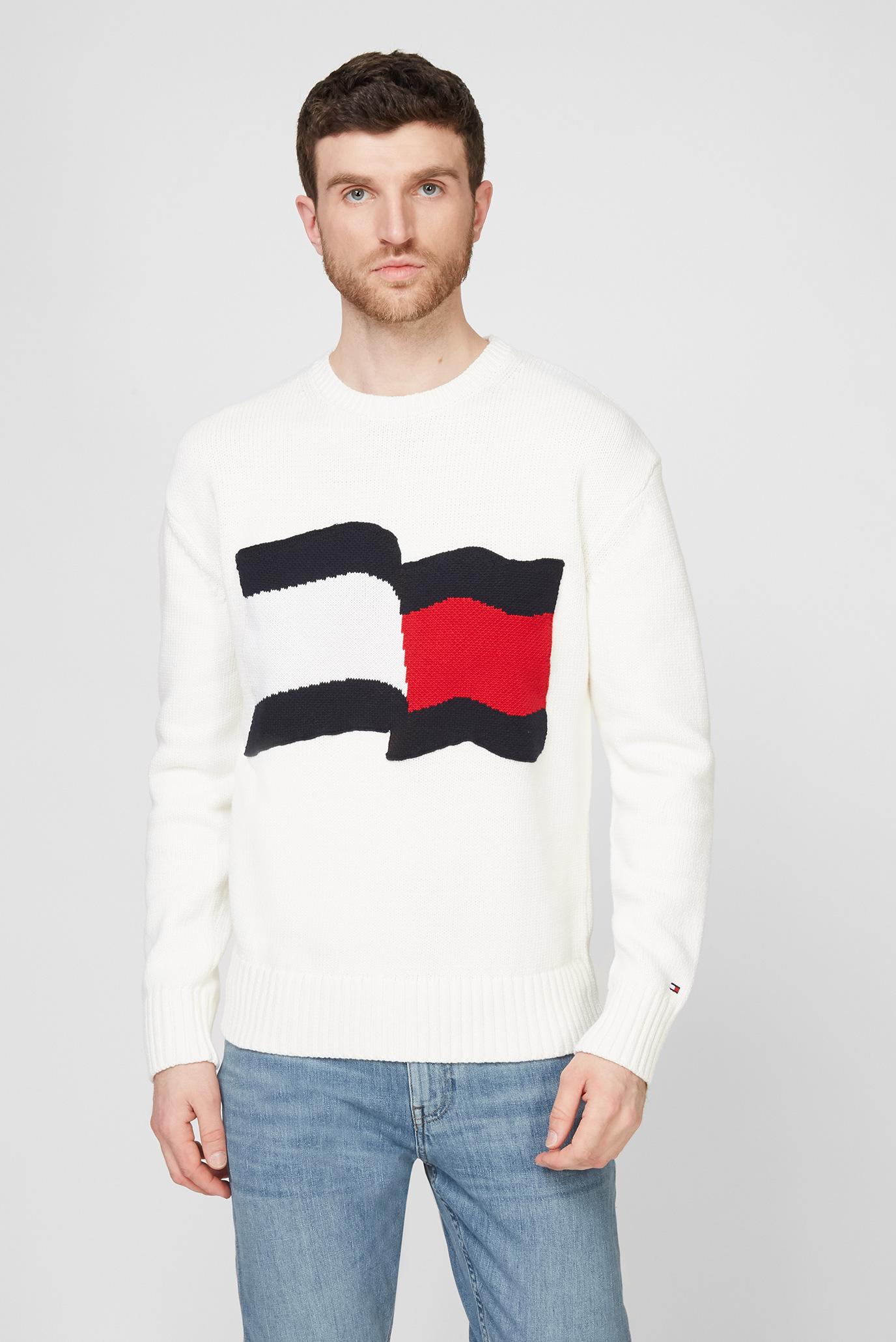 Мужской белый свитер BIG GRAPHIC SWEATER 1