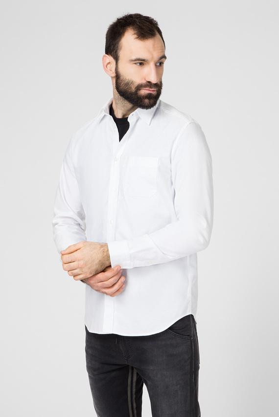 Мужская белая рубашка S-MOI-R-B1