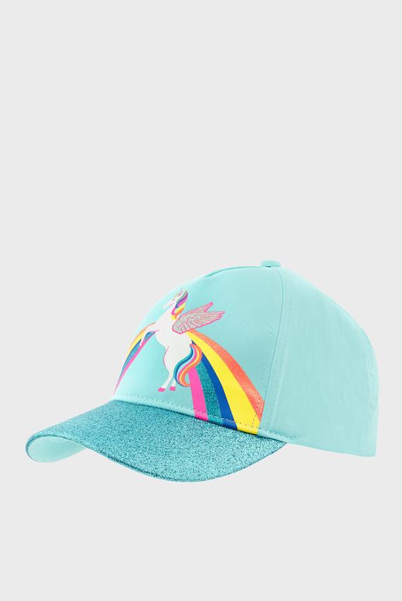 Детская голубая кепка RETRO UNICORN BASEBA