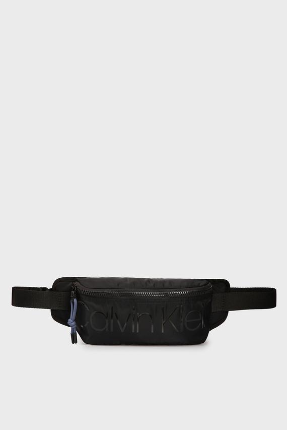 Мужская черная поясная сумка TRAIL