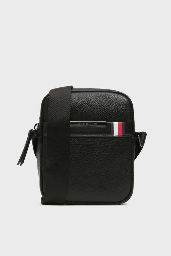 Мудская черная сумка через плечо TH DOWNTOWN MINI REPORTER