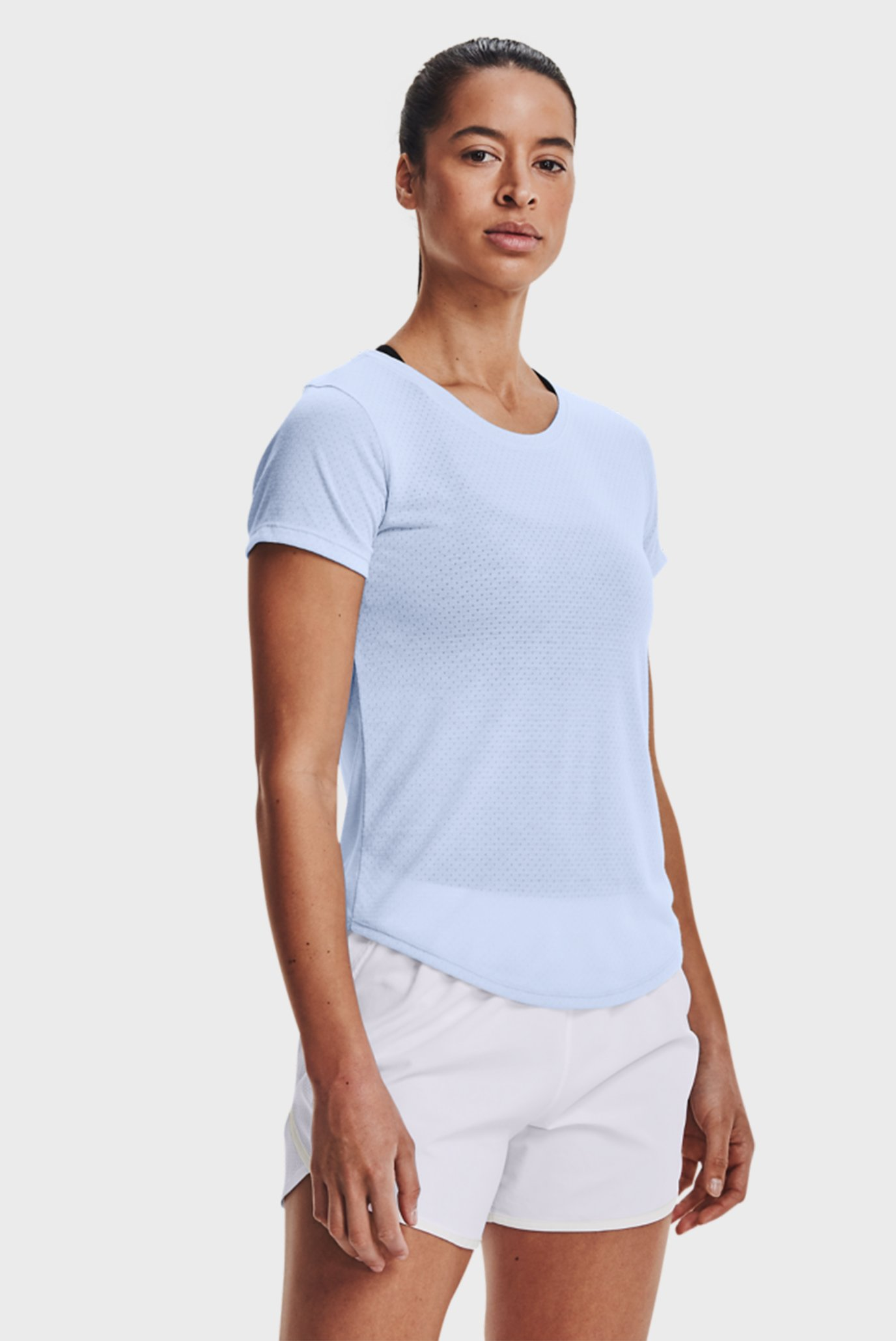 Женская голубая футболка UA Streaker SS-BLU 1