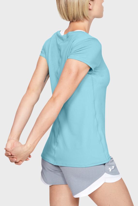 Женская голубая спортивная футболка UA HG Armour SS