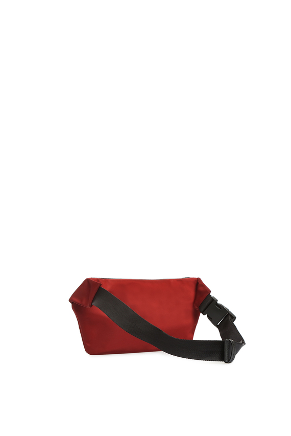 Мужская бордовая поясная сумка