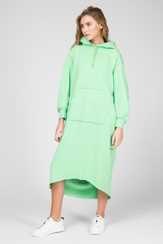 Женское зеленое платье-худи D-ILSE-TWIST-COPY