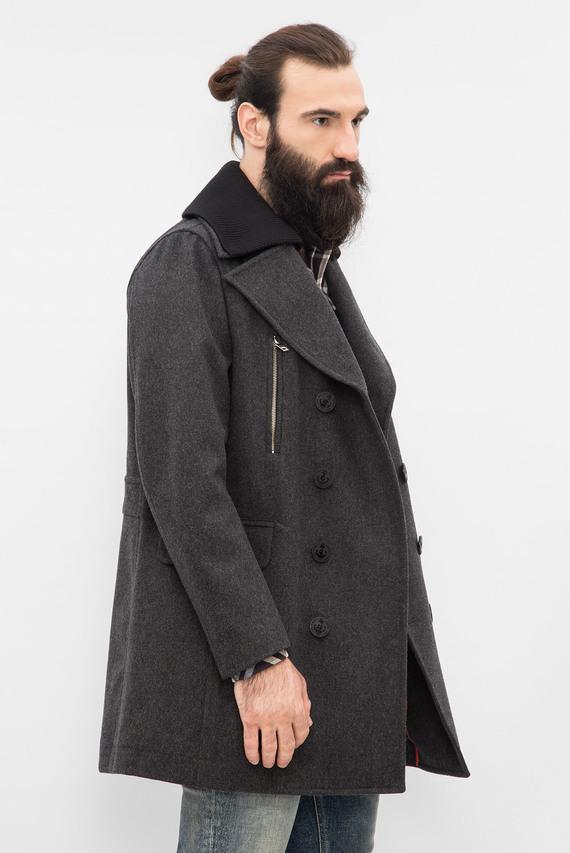 Мужское серое пальто