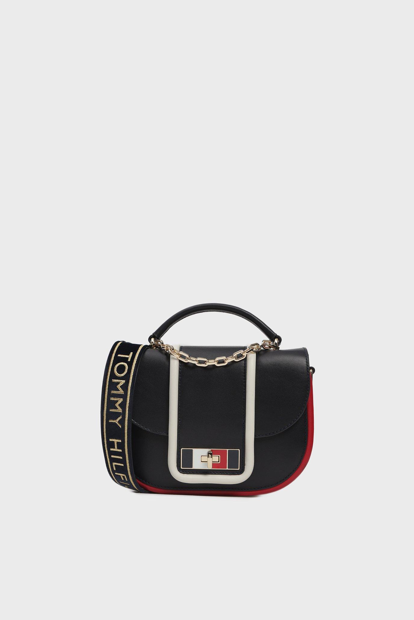 0a0d6e1d527a Купить Женская темно-синяя кожаная сумка через плечо FANCY Tommy Hilfiger  Tommy Hilfiger AW0AW06119 – Киев, ...