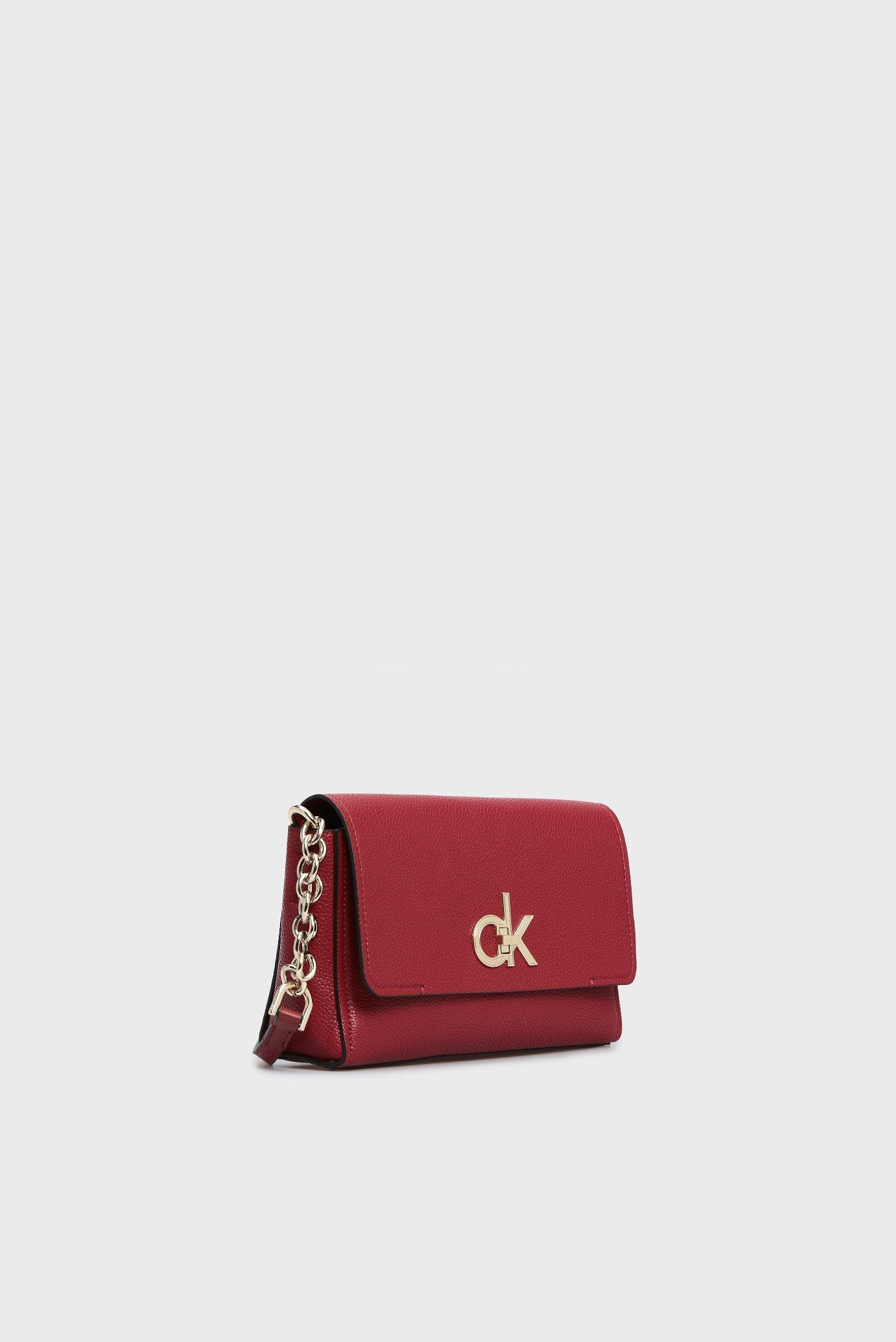Женская бордовая сумка через плечо RE-LOCK FLAP Calvin Klein