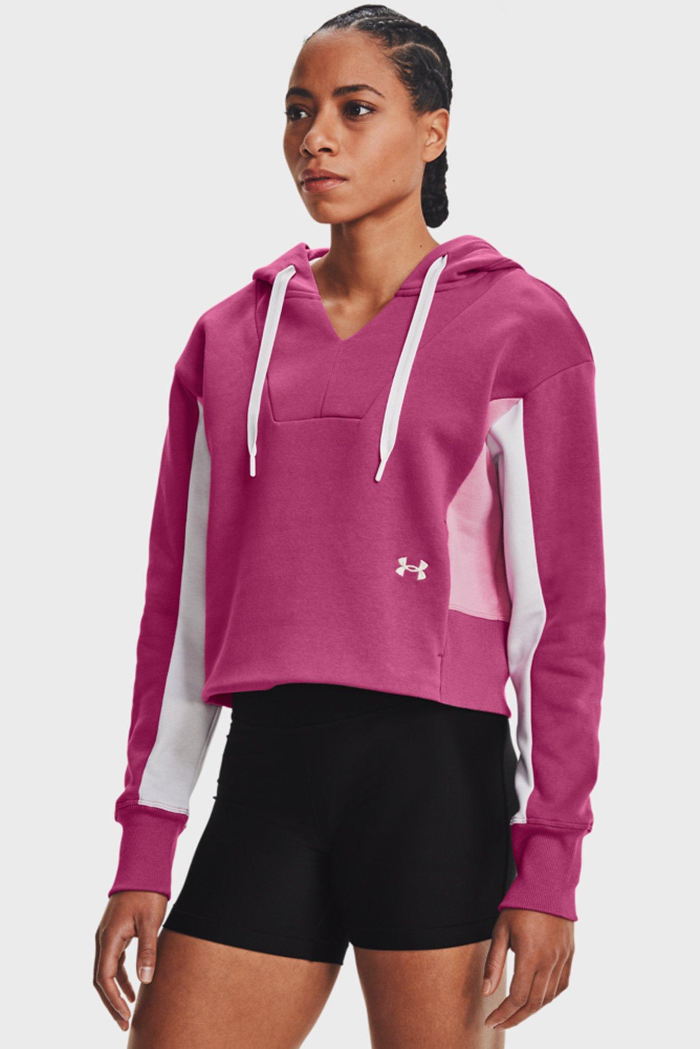 Женское розовое худи Rival Fleece EMB Hoodie-PNK 1