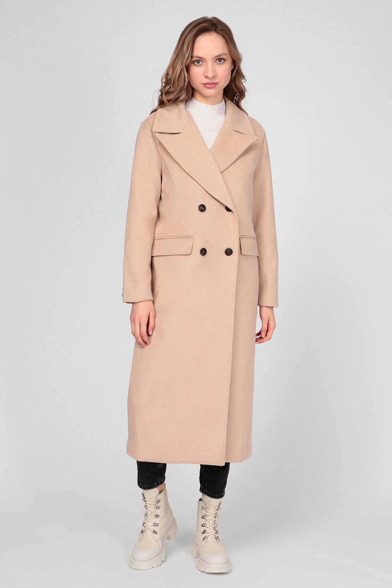 Жіноче бежеве вовняне пальто MARA 1