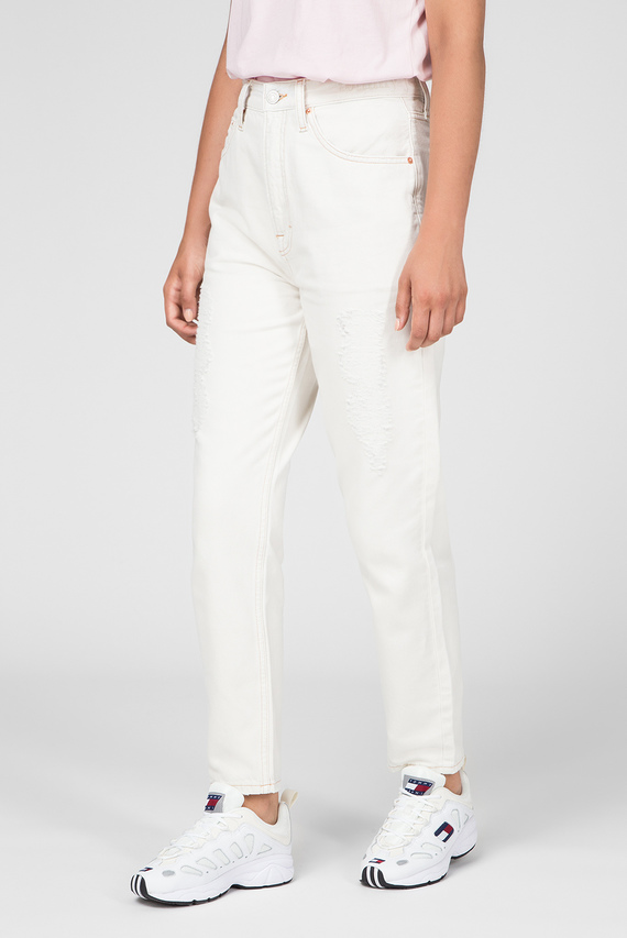 Женские белые джинсы HIGH RISE TAPERED TJ 2004