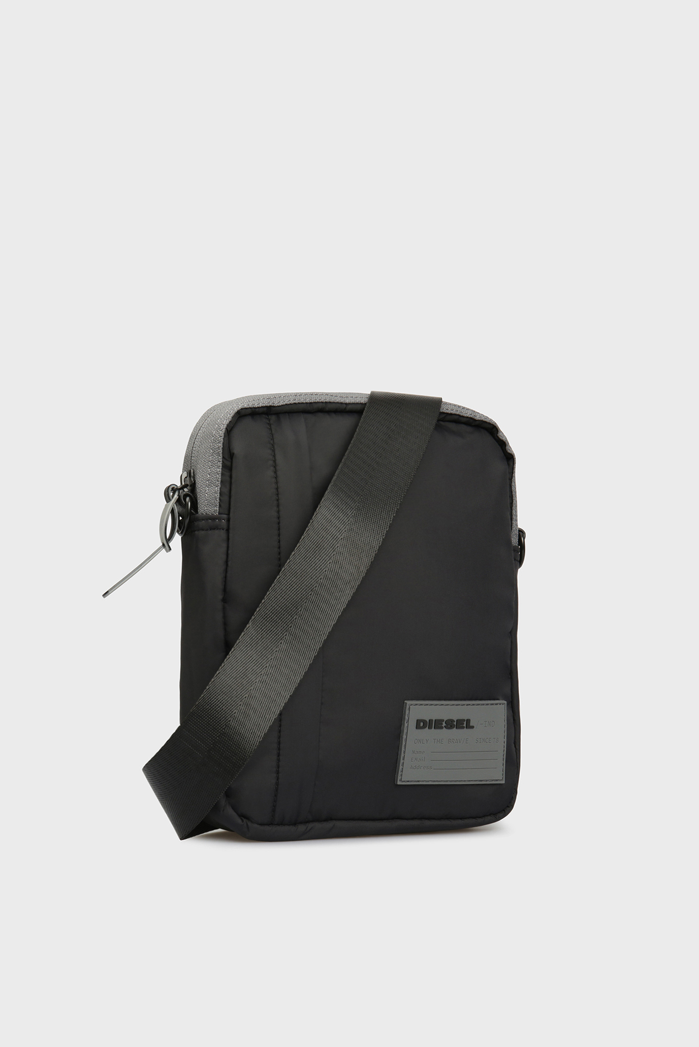 Мужская черная сумка через плечо DISCOVER-ME ODERZO Diesel
