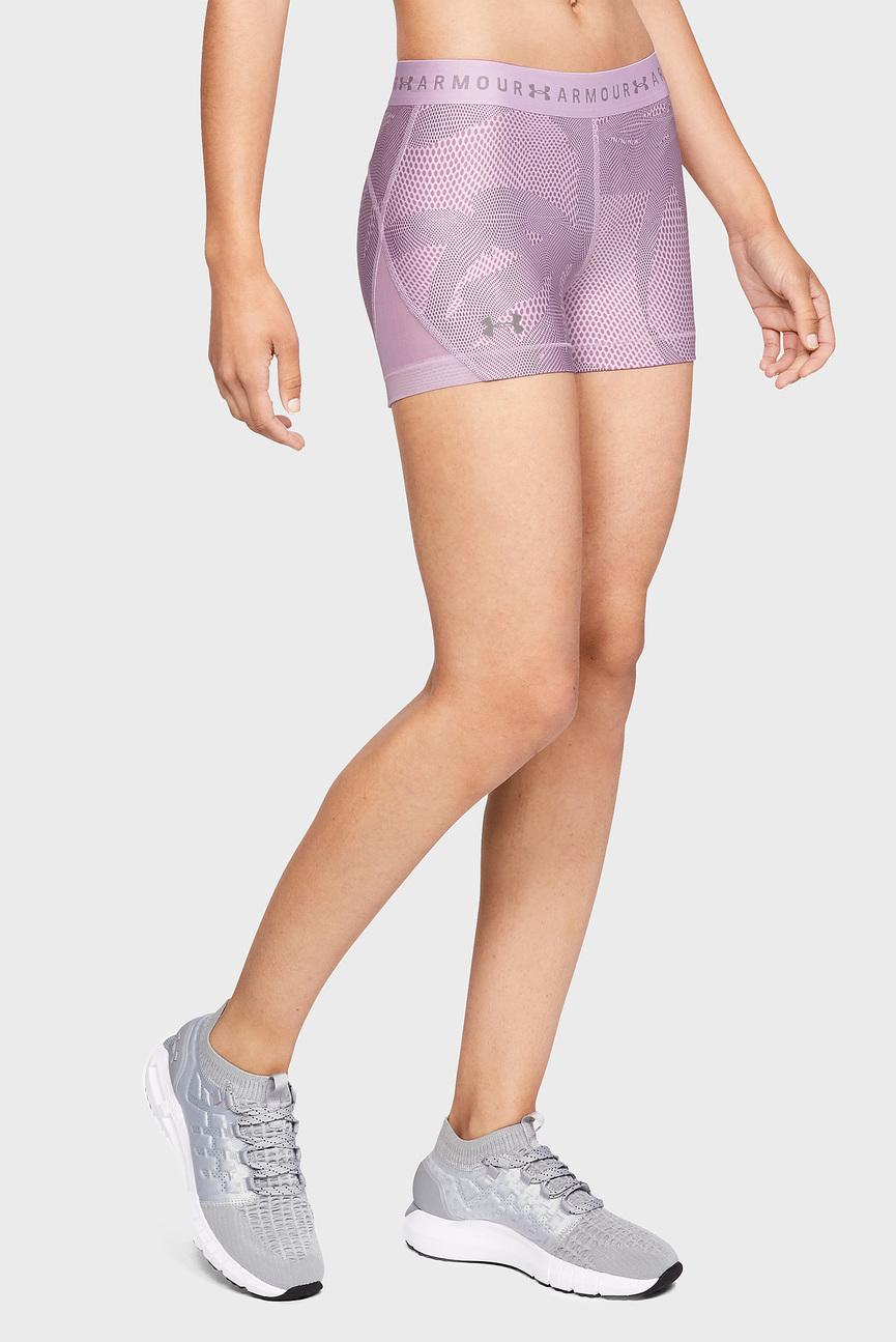Женские сиреневые шорты UA HG Armour Shorty Print