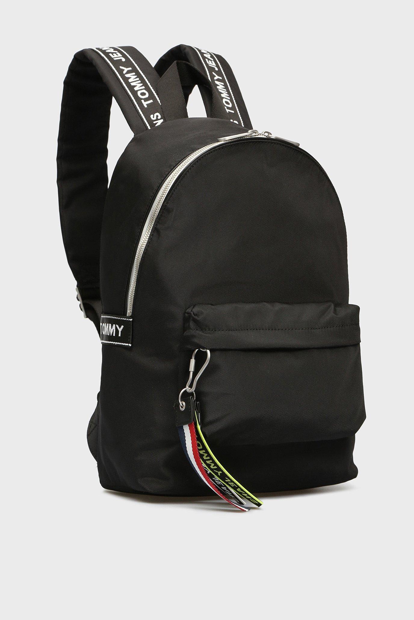4323e91ef0a Купить Черный рюкзак TJU LOGO TAPE MED Tommy Hilfiger Tommy Hilfiger  AU0AU00400 – Киев, Украина. Цены в ...