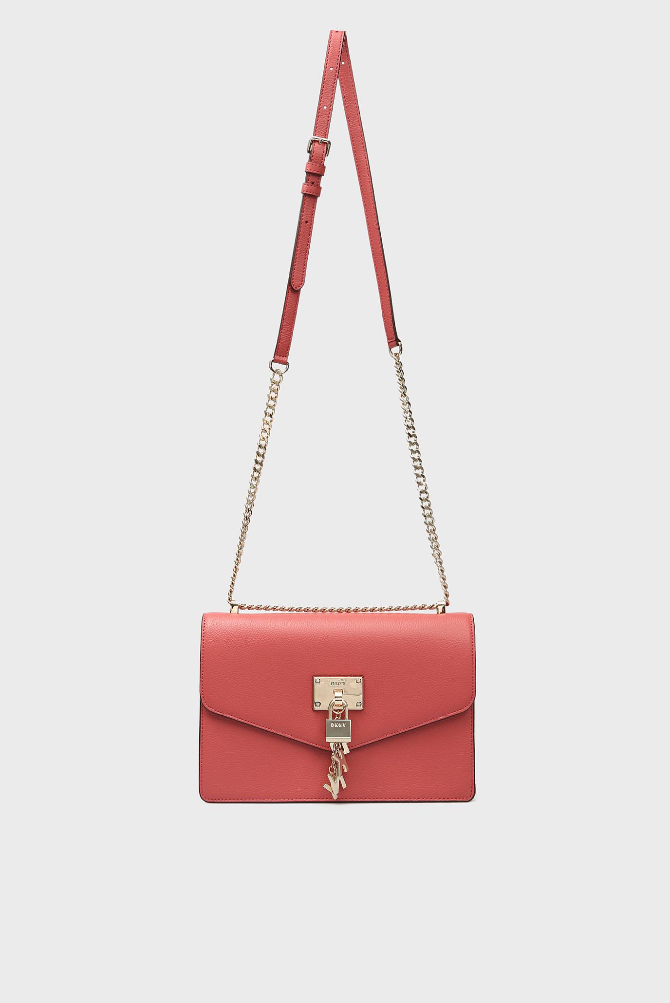 Купить Женская красная кожаная сумка через плечо ELISSA-LG DKNY DKNY R813H281 – Киев, Украина. Цены в интернет магазине MD Fashion