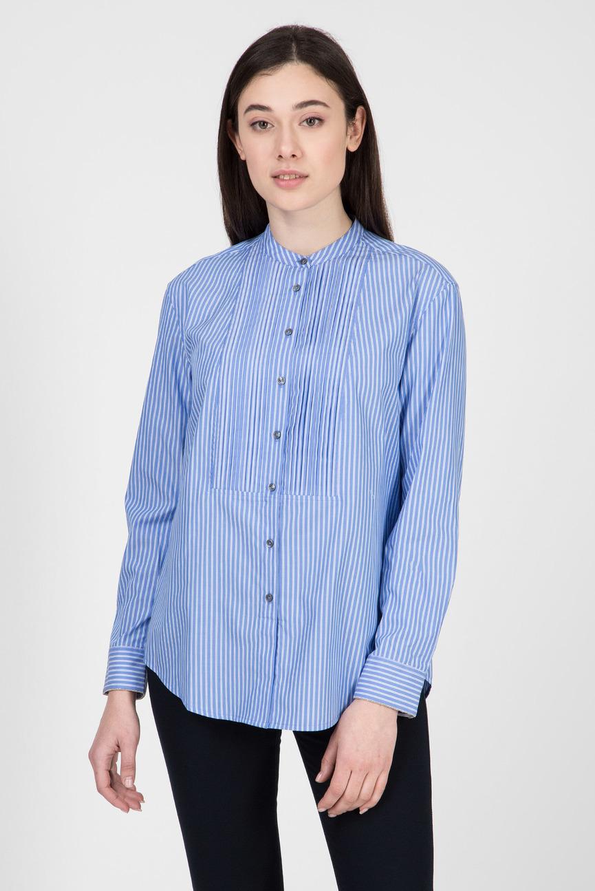Женская голубая рубашка в полоску LULU