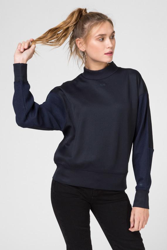 Женский темно-синий свитшот Pleat loose collar