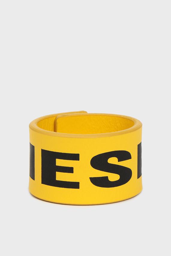 Мужской желтый кожаный браслет A-LETTER