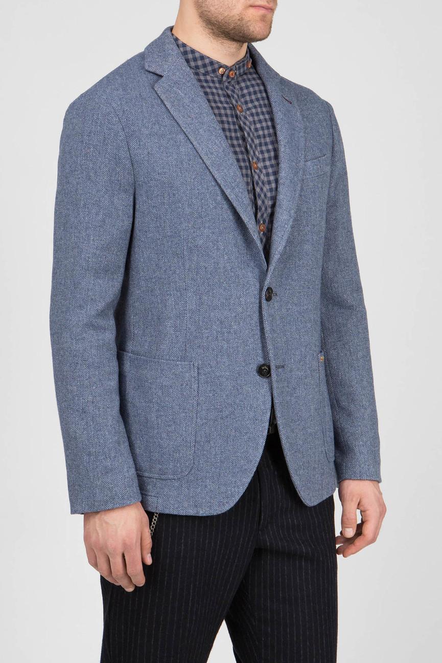 Мужской голубой пиджак с узором