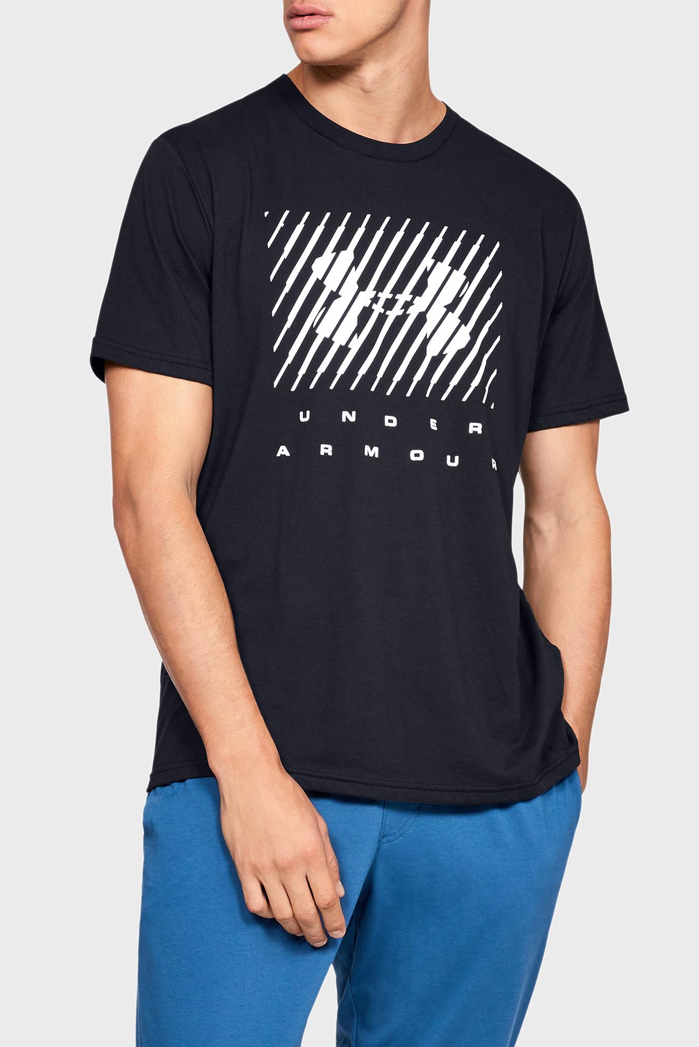 Чоловіча чорна футболка з принтом UA BRANDED BIG LOGO SS 1