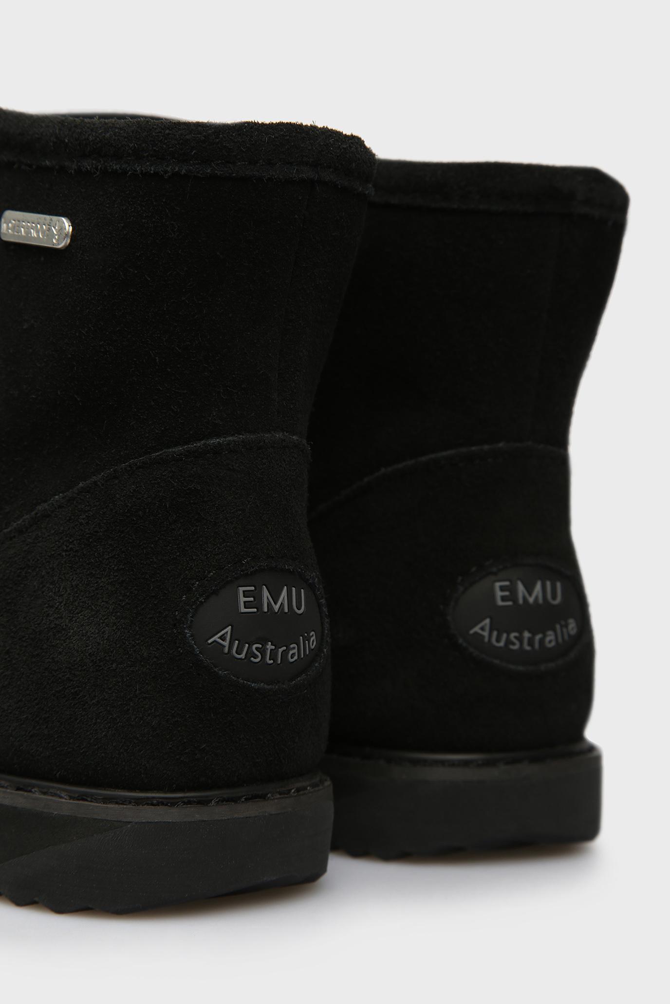 Купить Женские черные замшевые угги Paterson Classic Mini EMU Australia  EMU Australia  W11619 – Киев, Украина. Цены в интернет магазине MD Fashion
