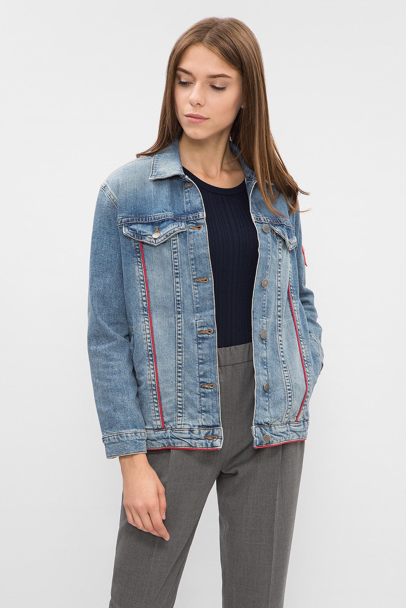 6d8da5568b0 Купить Женская голубая джинсовая куртка Tommy Hilfiger Tommy Hilfiger  WW0WW19884 – Киев