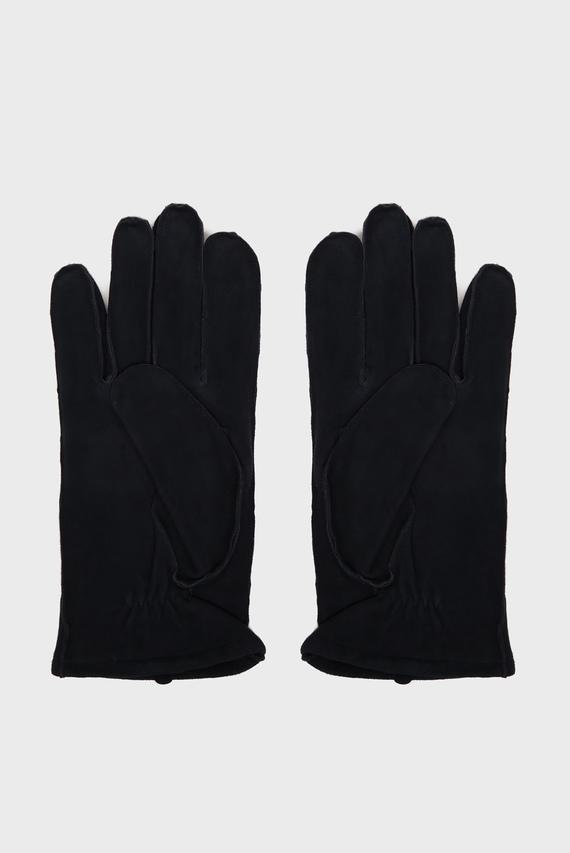 Мужские темно-синие замшевые перчатки CLASSIC SUEDE
