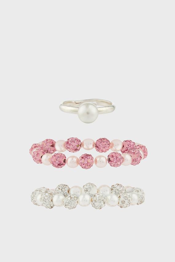 Набор детских украшений Precious Sparkle (кольцо, 2 браслета)