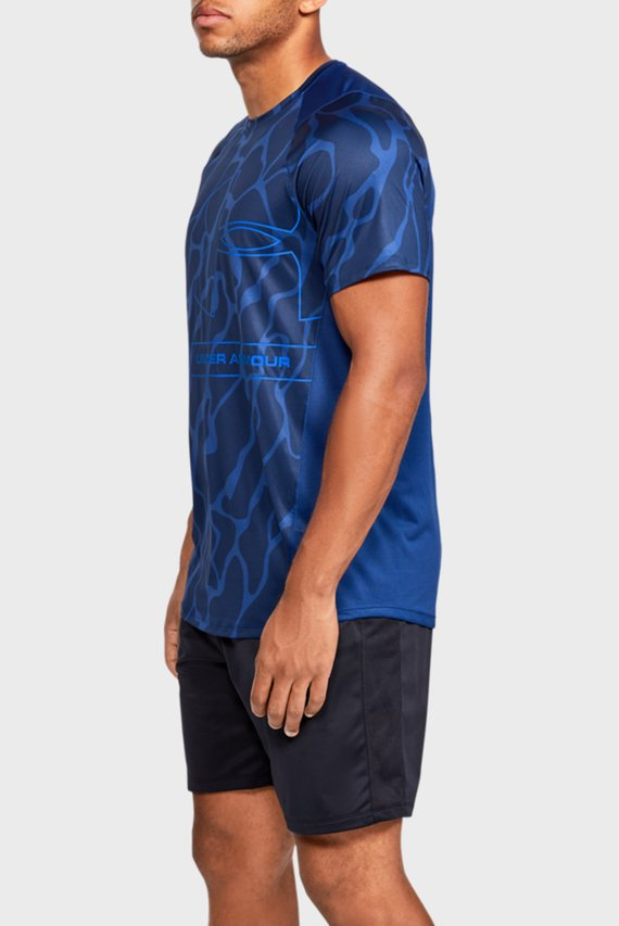 Мужская синяя спортивная футболка MK1 Tonal Print SS